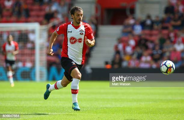 Manolo Gabbiadini of Southampton during the preseason friendly between Southampton FC and Sevilla at St Mary's Stadium on August 5 2017 in...