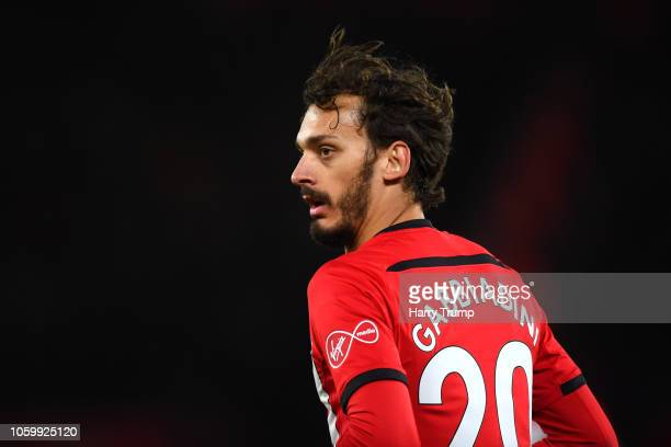 Manolo Gabbiadini of Southampton looks on during the Premier League match between Southampton FC and Watford FC at St Mary's Stadium on November 10...