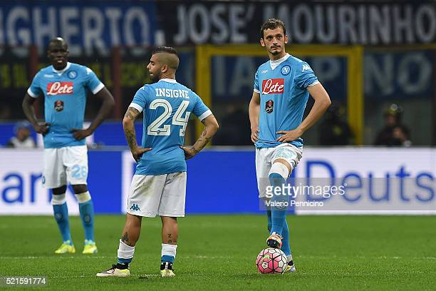 Manolo Gabbiadini of SSC Napoli looks dejected during the Serie A match between FC Internazionale Milano and SSC Napoli at Stadio Giuseppe Meazza on...