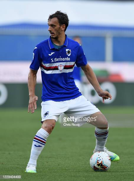Manolo Gabbiadini of UC Sampdoria during the Serie A match between UC Sampdoria and Bologna FC at Stadio Luigi Ferraris on June 28 2020 in Genoa Italy