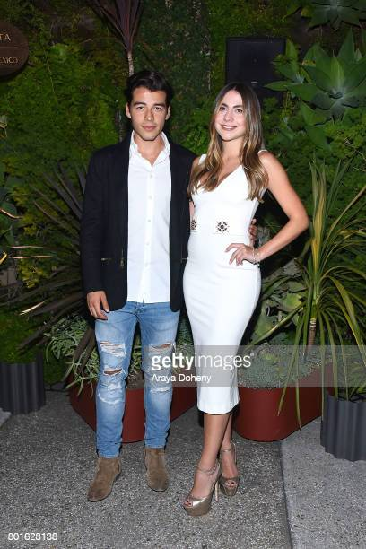 Manolo Gonzalez Vergara and Claudia Vergara attend the Official Raze Launch Party at Smogshoppe on June 26 2017 in Los Angeles California