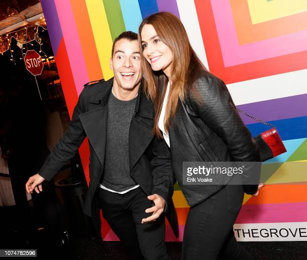 Manolo Gonzalez Vergara and Dr Mariana Vergara attend the Launch of Pop Shops at The Grove on November 29 2018 in Los Angeles California