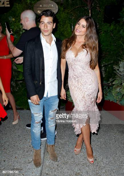 Manolo GonzalezRipoll Vergara and Sofia Vergara attend the Raze Launch Party at Smogshoppe on June 26 2017 in Los Angeles California