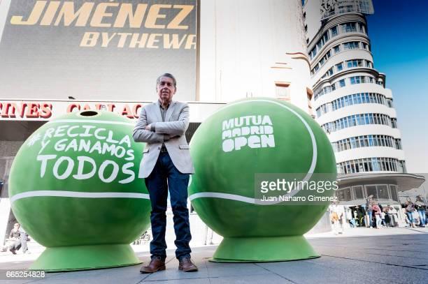 Manolo Santana attends 'Ecovidrio' presentation project at Callao Plaza on April 6 2017 in Madrid Spain