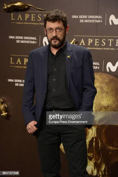 Manolo Solo attend 'La Peste' premiere at Callao Cinema on January 11 2018 in Madrid Spain