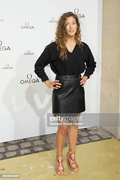 Manon Azem attends 'Her Time' Omega Photocall as part of the Paris Fashion Week Womenswear Spring/Summer 2018 on September 29 2017 in Paris France