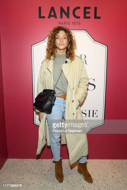 "Manon Azem attends the Lancel 'Portraits De Fantaisie"" cocktail event during Paris Fashion Week, Womenswear Spring Summer 2020, on September 25, 2019..."