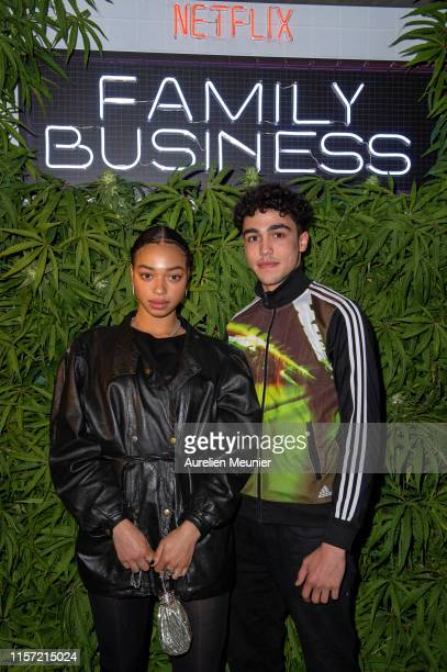 Manon Bresch and Carl Malapa attend the Family Business premiere on June 20 2019 in Paris France