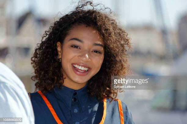 Manon Bresch attends day 4 photocall of 20th Festival of TV Fiction on September 15 2018 in La Rochelle France