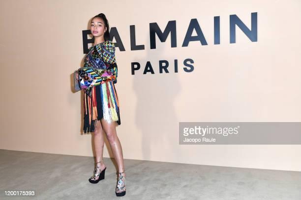 Manon Bresch attends the Balmain Menswear Fall/Winter 20202021 show as part of Paris Fashion Week on January 17 2020 in Paris France