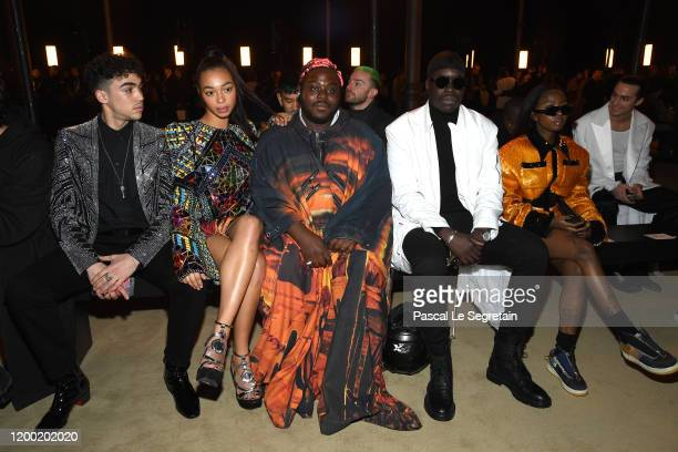 Manon Bresch Siobhan Bell and guests attend the Balmain Menswear Fall/Winter 20202021 show as part of Paris Fashion Week on January 17 2020 in Paris...