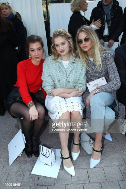 Manon Clavel, Nadia Tereszkiewicz and Sasha Luss attend the Chanel Haute Couture Spring/Summer 2020 show as part of Paris Fashion Week on January 21,...