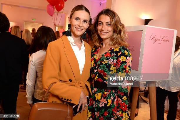 Manon Durst and Paloma Coquant attend Roger Vivier '#LoveVivier' Book Launch Cocktail on May 24 2018 in Paris France