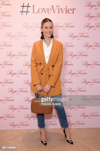 Manon Durst attends Roger Vivier '#LoveVivier' Book Launch Cocktail on May 24 2018 in Paris France