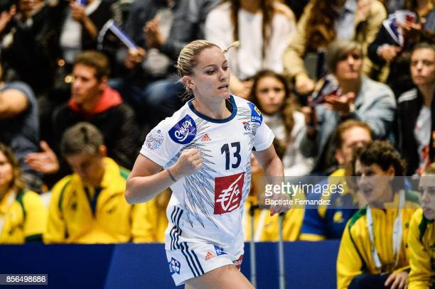 Manon Houette of France during the handball women's international friendly match between France and Brazil on October 1 2017 in TremblayenFrance...