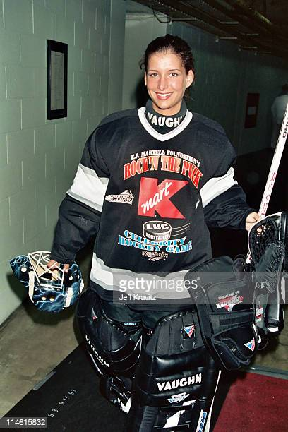 Manon Rheaume during 3rd Annual Rock'n the Puck Celebrity Hockey Game to Benefit TJ Martell 1994 at Great Western Forum in Los Angeles CA United...