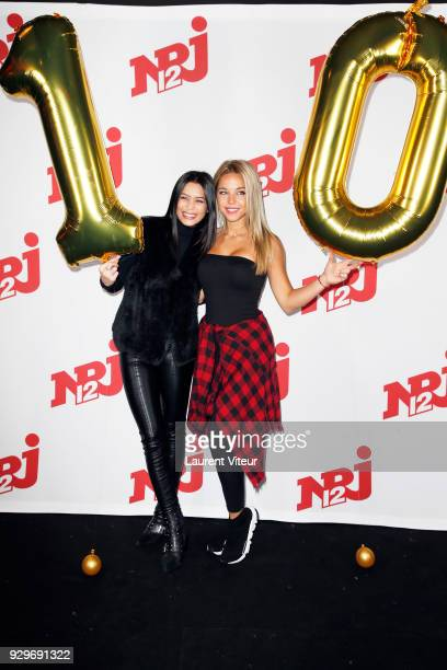 Manon Van and Maddy Burciaga attend Les Anges 10 Press Launch on March 9 2018 in Paris France