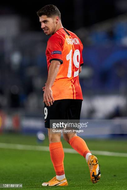 Manor Solomon of Shakhtar Donetsk looks on during the UEFA Champions League Group B stage match between Real Madrid and Shakhtar Donetsk at Estadio...