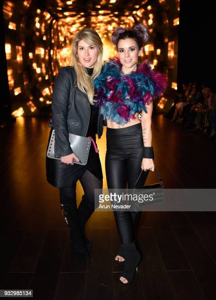 Manou and Jillian Wilson at Los Angeles Fashion Week Powered by Art Hearts Fashion LAFW FW/18 10th Season Anniversary Backstage and Front Row Day 5...