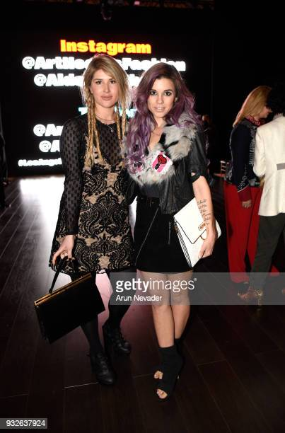 Manou and Jillian Wilson attend Los Angeles Fashion Week Powered by Art Hearts Fashion LAFW FW/18 10th Season Anniversary Backstage and Front Row Day...