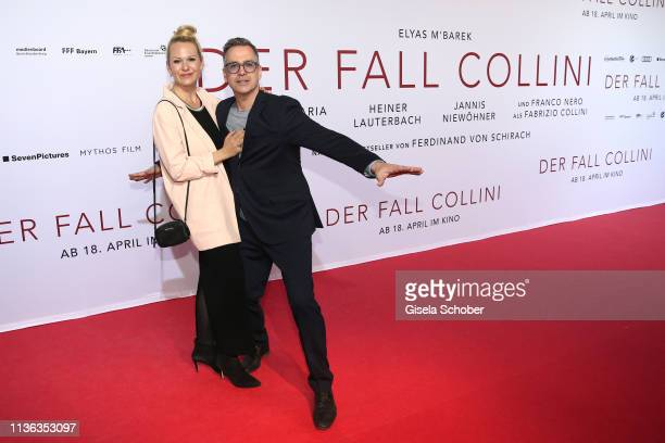 Manou Lubowski and his girlfriend Lara von Stumberg during the Der Fall Collini premiere at Mathaeser Filmpalast on April 11 2019 in Munich Germany