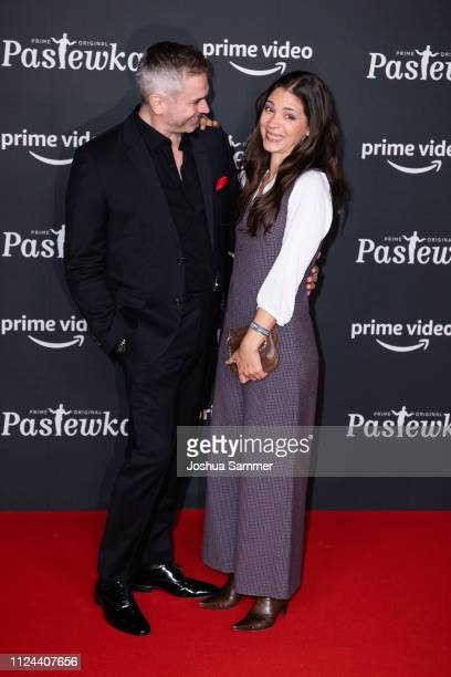 Manou Lubowski and Katja Woywood attend the premier of the Amazon series 'PASTEWKA' at Cinedom on January 23, 2019 in Cologne, Germany.