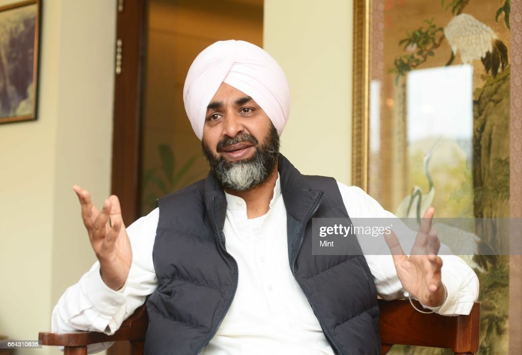 Manpreet Singh Badal Indian politician and leader of the People`s Party of Punjab photographed at his residence on January 16 2016 in Gurgaon India