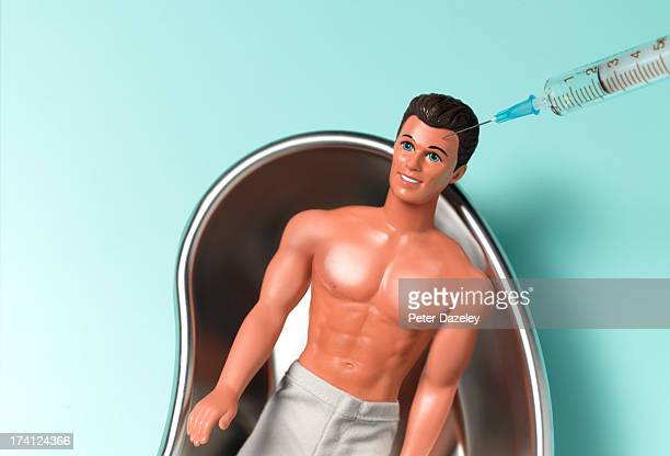 man's botox injection - male likeness stock pictures, royalty-free photos & images