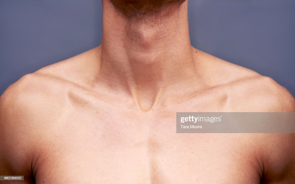 man's chest and neck : Stock-Foto