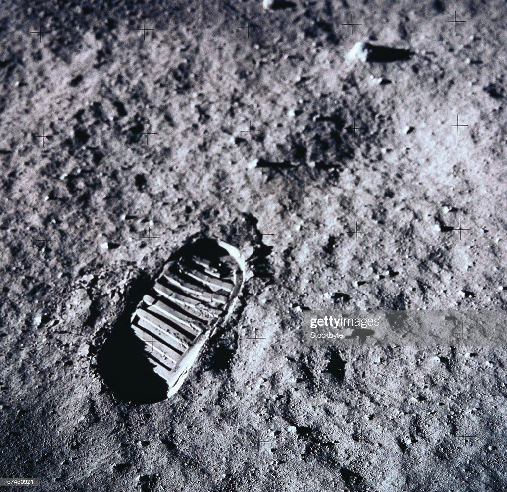 Fußabdruck Mond