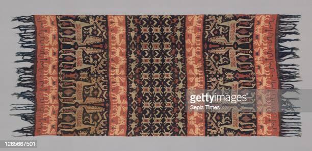 Man's Hinggi Cloth , 19th century, Indonesia, Sumba, East Sumba, Indonesia, Cotton, plain weave, warp-dyed , fringe on two sides, 283.2 x 118.8 cm .