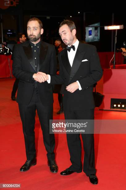 Mans Mansson and Axel Petersen attend the 'The Real Estate' premiere during the 68th Berlinale International Film Festival Berlin at Berlinale Palast...