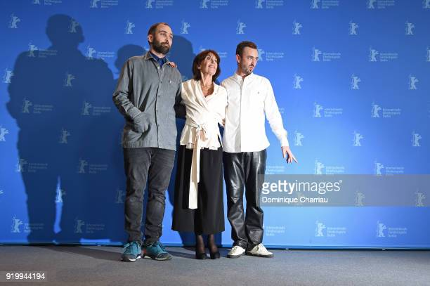 Mans Mansson, Leonore Ekstrand and Axel Petersen pose at the 'The Real Estate' photo call during the 68th Berlinale International Film Festival...