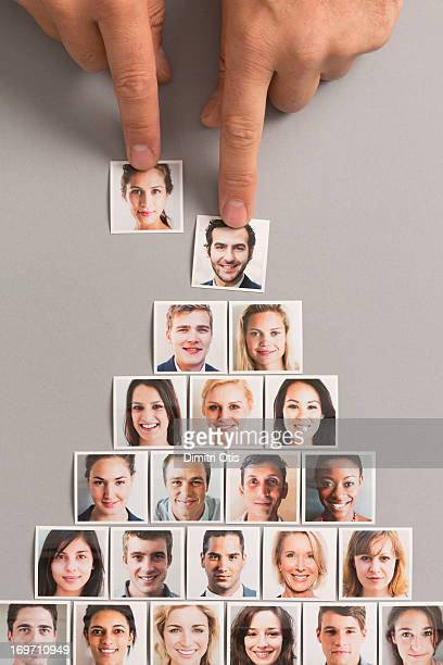 Man's portrait selected over woman to head pyramid