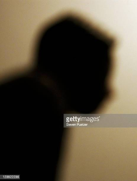 mans silhouette - film noir style stock pictures, royalty-free photos & images