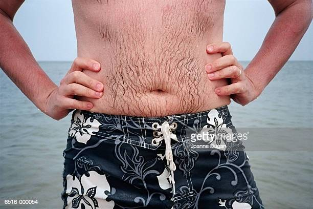 Mans Stomach