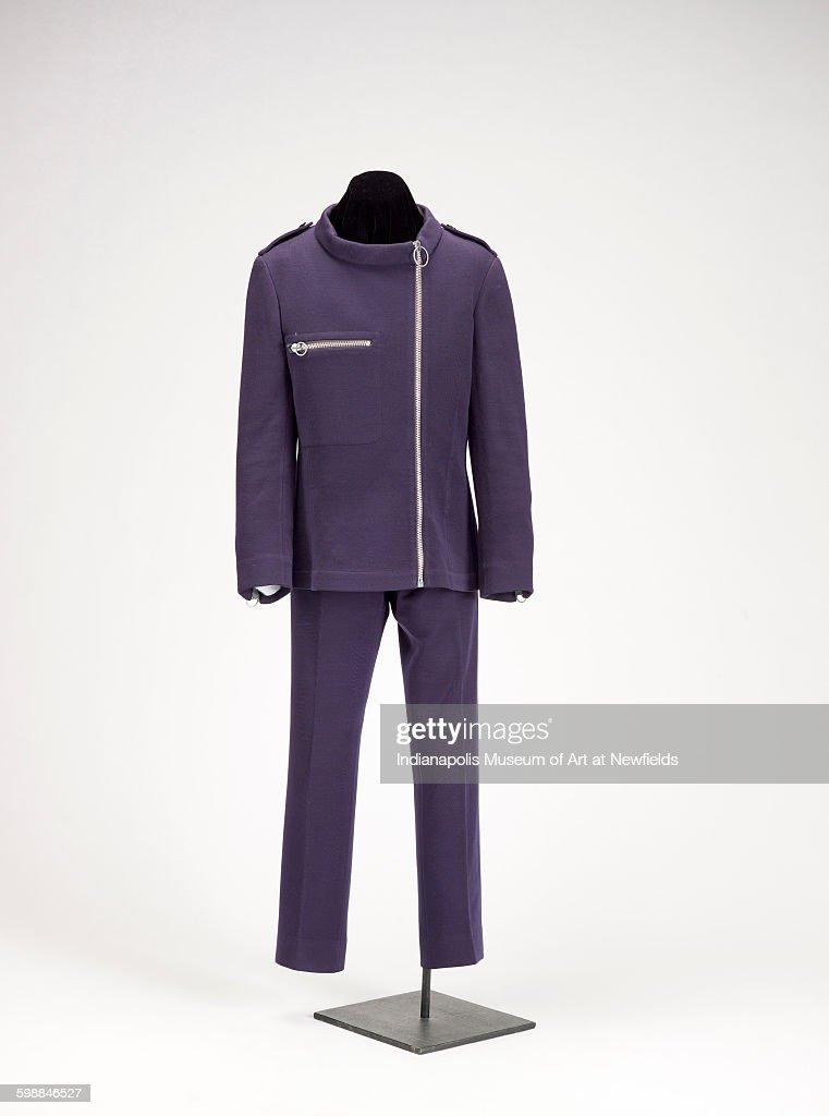 Man's suit by French artist Pierre Cardin, 1967. Lucille Stewart Endowed Art Fund.