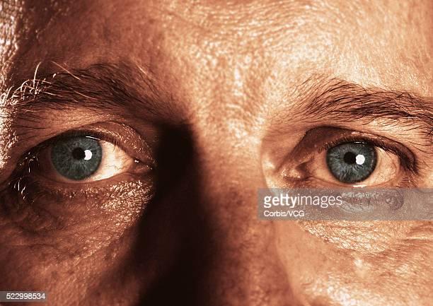 Man's Tired Eyes