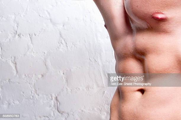 Mans torso showing abdominal muscles