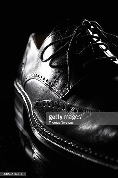 Man's wingtip shoe, close-up