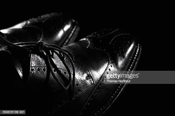 Man's wingtip shoes, close-up