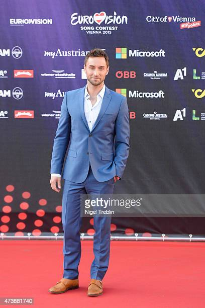 Mans Zelmerloew of Sweden arrives to the Opening Ceremony of the Eurovision Song Contest 2015 on May 17 2015 in Vienna Austria