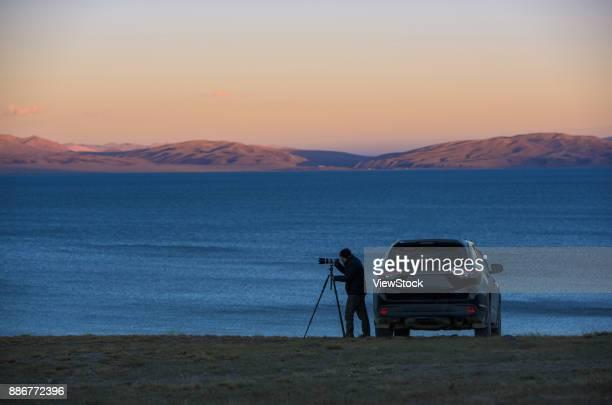 Mansarovar lake scenery of Ali Region in Tibet