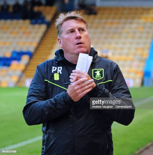Mansfield Towns assistant manager Paul Raynor during the EFL Checkatrade Trophy Northern Section Group G match between Mansfield Town and Lincoln...