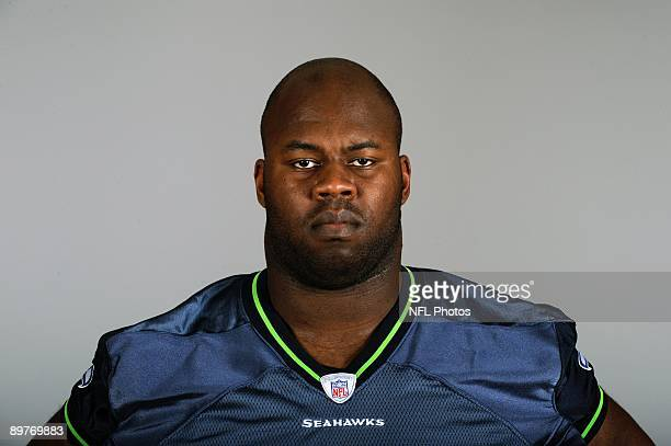 Mansfield Wrotto of the Seattle Seahawks poses for his 2009 NFL headshot at photo day in Seattle Washington