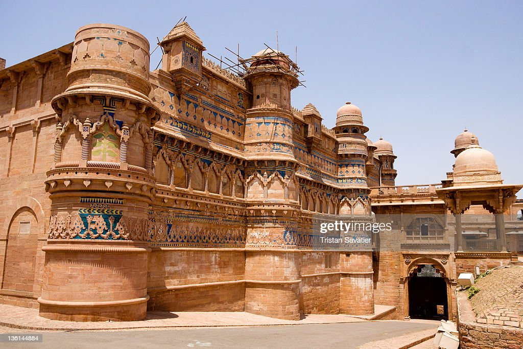 Mansingh Palace in Gwalior : Stock Photo