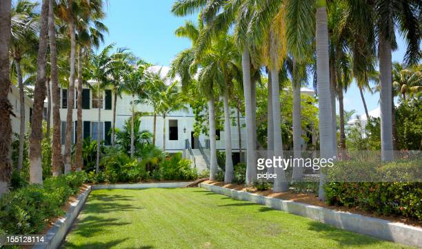 mansion and tropical garden