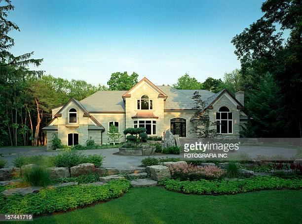 mansion exterior - beautiful house stock photos and pictures