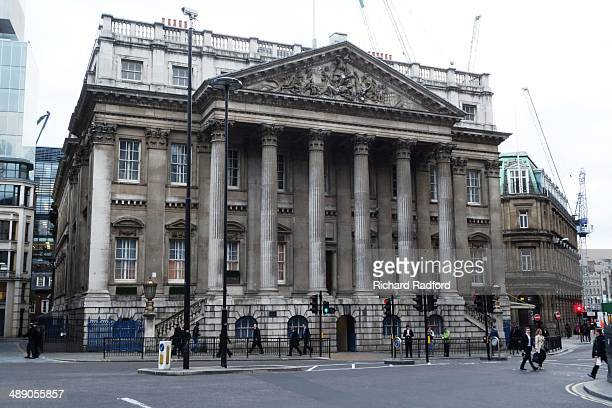 Mansion House Exterior building view Office and banquet hall of The Lord Mayor of the City of London England
