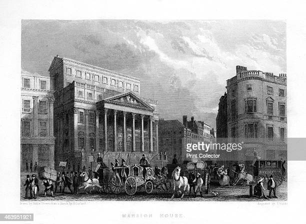Mansion House London 19th century The official residence of the Lord Mayor of the City of London